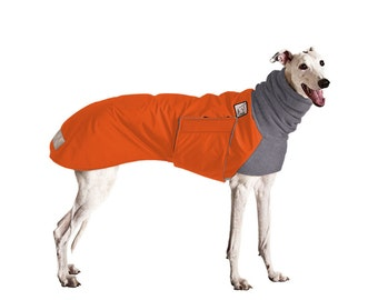 GREYHOUND Winter Dog Coat, Waterproof Dog Coat, Dog Winter Jacket, Fleece Dog Snood, Winter Clothes for Dogs, Dog Clothing, Large Dog Coat,