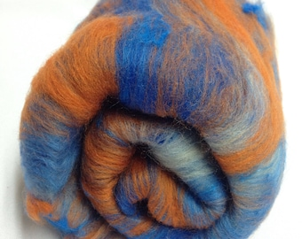 Carded fibre Batt for spinning and felting Art batt Spinning fiber 50g (1.95 oz)