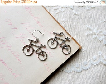 30% OFF SALE Antiqued silver adorable bicycle earrings, Spokes, Gears, Handles, & Seats
