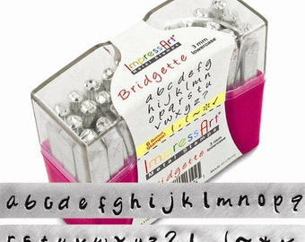 BRIDGETTE new style LOWERCASE metal jewelry stamps BONUS stamps included
