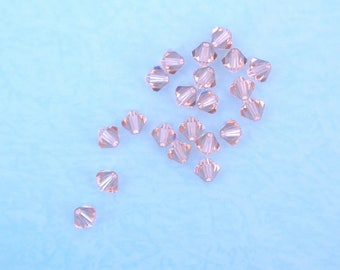 10 5mm Vintage Rose Swarovski Crystal bicone beads