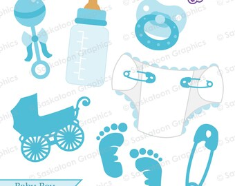 Baby Boy Clipart - Instant Download File - Digital Graphics - Cute - Crafts, Web, Parties - Commercial & Personal Use - #B003