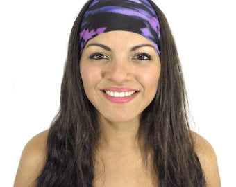Running Headband Bohemian Headband Purple Yoga Headband Black No Slip Headband Wide Headband Women Hair Accessories Fitness Headband S208