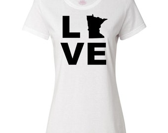 Love Minnesota Women's T-Shirt by Inktastic