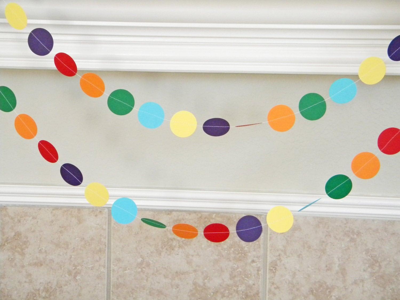 Primary Colors Paper Garland Rainbow Wedding Decoration Kids