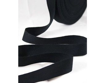 1/2 Wide Black Cotton Twill Tape, Black Cotton Twill Tape, THIN-WEIGHT Black Cotton Tape for Crafting, Sewing, Stamping, Waterproof