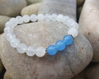 Moonstone Chalcedony Bracelet
