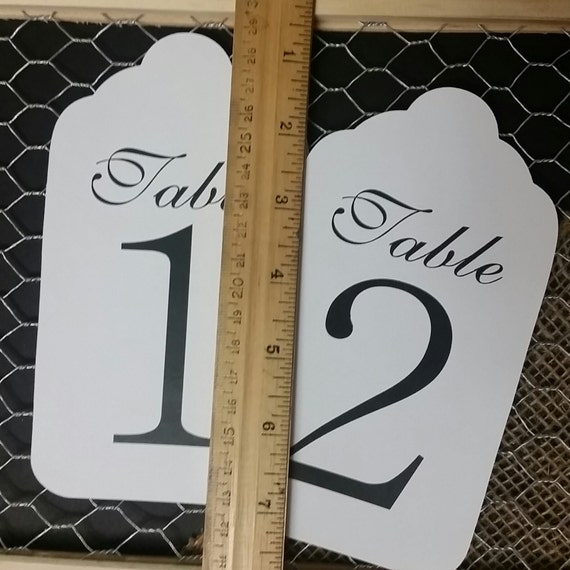 """LARGE Table Number Tags 6 1/2"""" x 3 1/2"""" choose your quantity"""