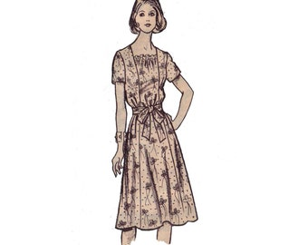 70s uncut Princess Seam Dress pattern vintage 34-26.5-36 Mail Order pattern Marion Martin 9041