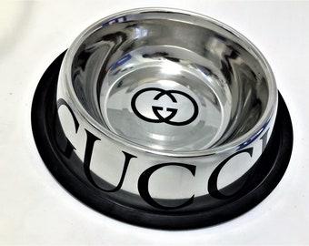 Gucci Pet Feeding Bowl Dog Bowl Cat Bowl Water Food Bowl Non-Slip Removable