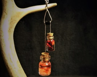 Spice bottle resin necklace pendant