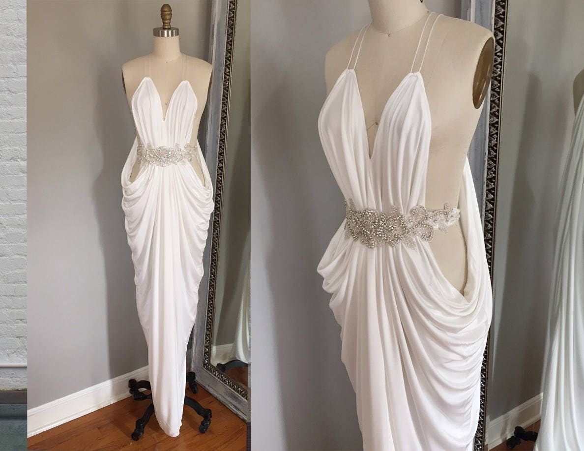 Sexy Brautkleid weißen Kleid Elfenbein Kleid griechischen