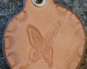 Leather Keychain Butterfly