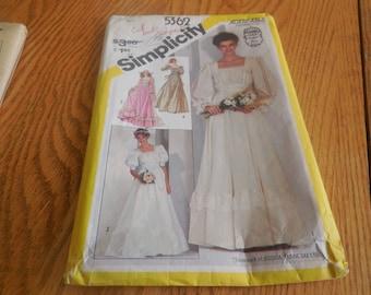 Wedding Pattern Bridal Pattern Simplicity Pattern