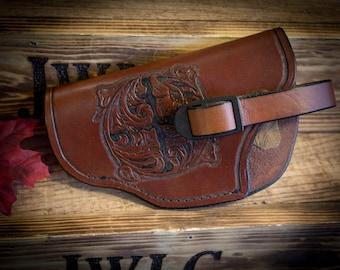 4 1/2in Leather Gun Holster (Left Handed)