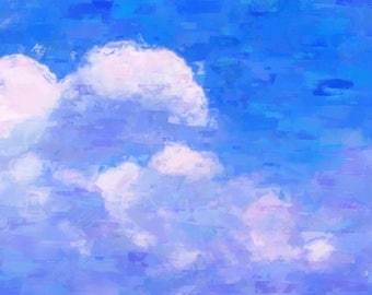 White Fluffy Clouds, Art Print, Home Decor, Wall Art,  Print, Wall Decor, Housewarming Gift, Christmas Gift, Gift for Her, Bedroom, Clouds