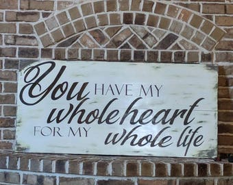 Custom made to order White washed sign with any saying you choose.