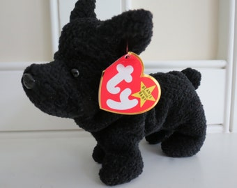 RARE Ty Beanie Baby - SCOTTIE the Dog, Poem ERROR, Deutschland Tag, Oddity, 4th Generation Swing Tag, No Stamp, pvc Pellets, Mint Condition