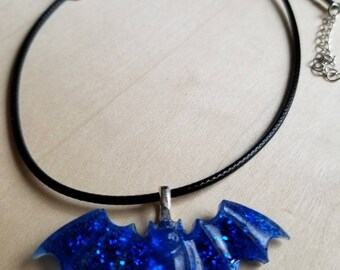 Blue Bat Choker / Bat Necklace / Bat Jewelry / Gothic Choker / Gothic Necklace / Gothic Jewelry / Vampire Bat / Vampire Necklace