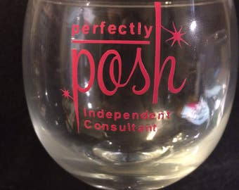 Perfectly Posh   15oz Stemless Wine Glass