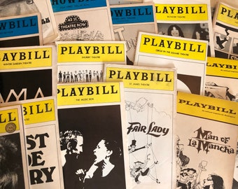 Playbills from the 60s and 70s