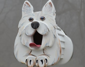 Westie the Dog Birdhouse or Feeder, dog lover gift, West Highland Terrier