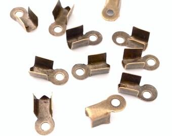 X 400 clasps ❤ antique bronze 9x4mm ❤