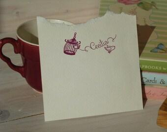 Custom Set Free - Little Bird  Olive Wood Stamp