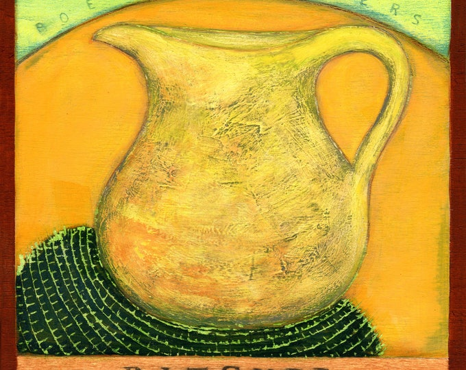 P  is for Pitcher.  Hand-signed print of original artwork