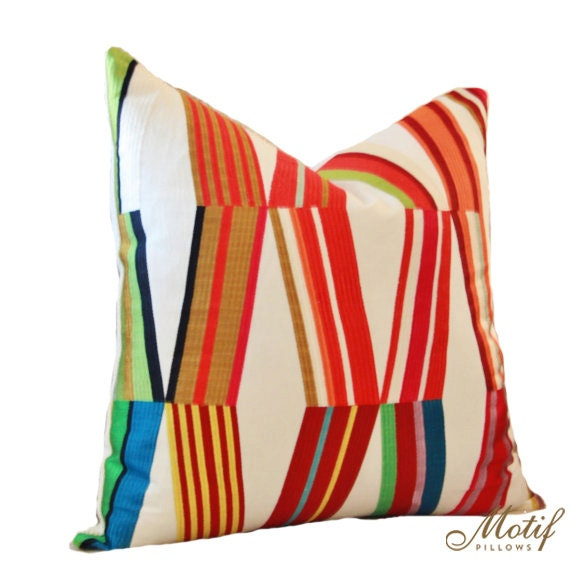 Pierre Frey Woven Contemporary Modern Multi Colored Pillow