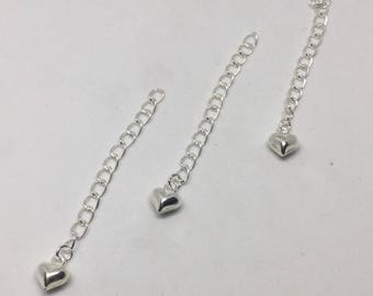 Sterling Silver necklace extension