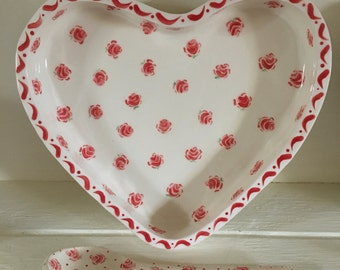 Heart Bowl Small Red Rose