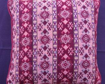 Ethnic Vintage Handmade Pink Kilim Pillow