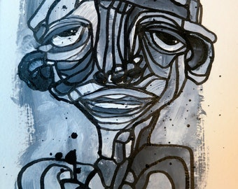 Original Expressionist Art Painting Fine art abstract Portrait