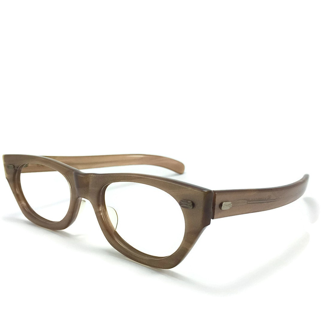 60s Vintage Eyeglasses | American Optical Shimmering Clear Horn ...