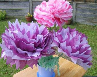 paper flower pom poms