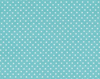 Blue Lagoon-turquoise waxed canvas has polka dot white sold Cup