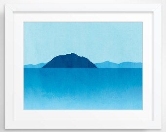 Beach Decor, Ocean Seascape Art, Minimalist Poster, Abstract Art, Coastal Decor