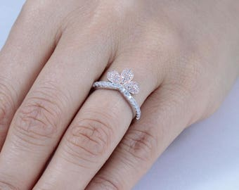 Rose Gold Over .925 Sterling Silve Cz Band Fashion Ring Women's Size 3-12 SS4766