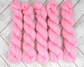 Music Box Pirouettes Mini - Hand Dyed Sock Yarn Heavy Fingering Weight 20g Mini Skein 92yds PlumpleBee Base 75/25 Superwash Merino/Nylon
