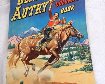 Vintage Gene Autry Coloring Book 1949 Unmarked
