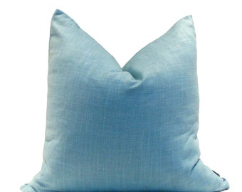 New! Turquoise Linen Pillow Cover