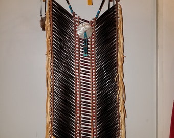 Native 42 Pipe bone chest plate regalia pow wow Traditional