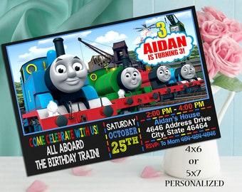 Thomas Train Birthday Invitation, Thomas Train Invitation Birthday, Thomas Birthday Invitation, Train Birthday Invitation, Thomas Train