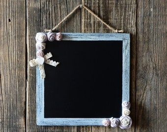 Slate square-walled Shabby chic with roses