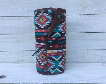 Unpaper towels, reusable paper towels, cloth paper towels, snapping paper towels - Tribal Stripe  // gift //