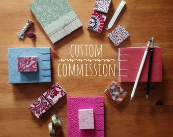 Custom Commission - Large Coptic Stitch Notebook