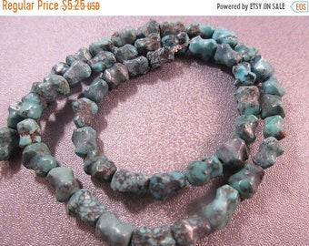 ON SALE 20% OFF Turquoise Nuggets Beads 49pcs