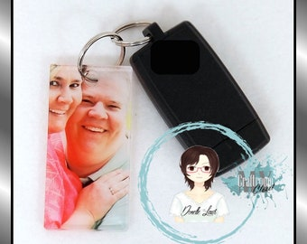 CUSTOMIZABLE Acrylic Keychain Fob choose your shape