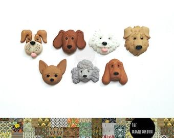 My Dog Fridge Magnet Set [Puppy, Poodle, Bloodhound, Labrador, Chihuahua, Sheep dog, Retriever]